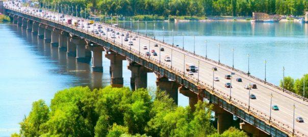 Proekt stroitelisva mosta cherez reku Lena